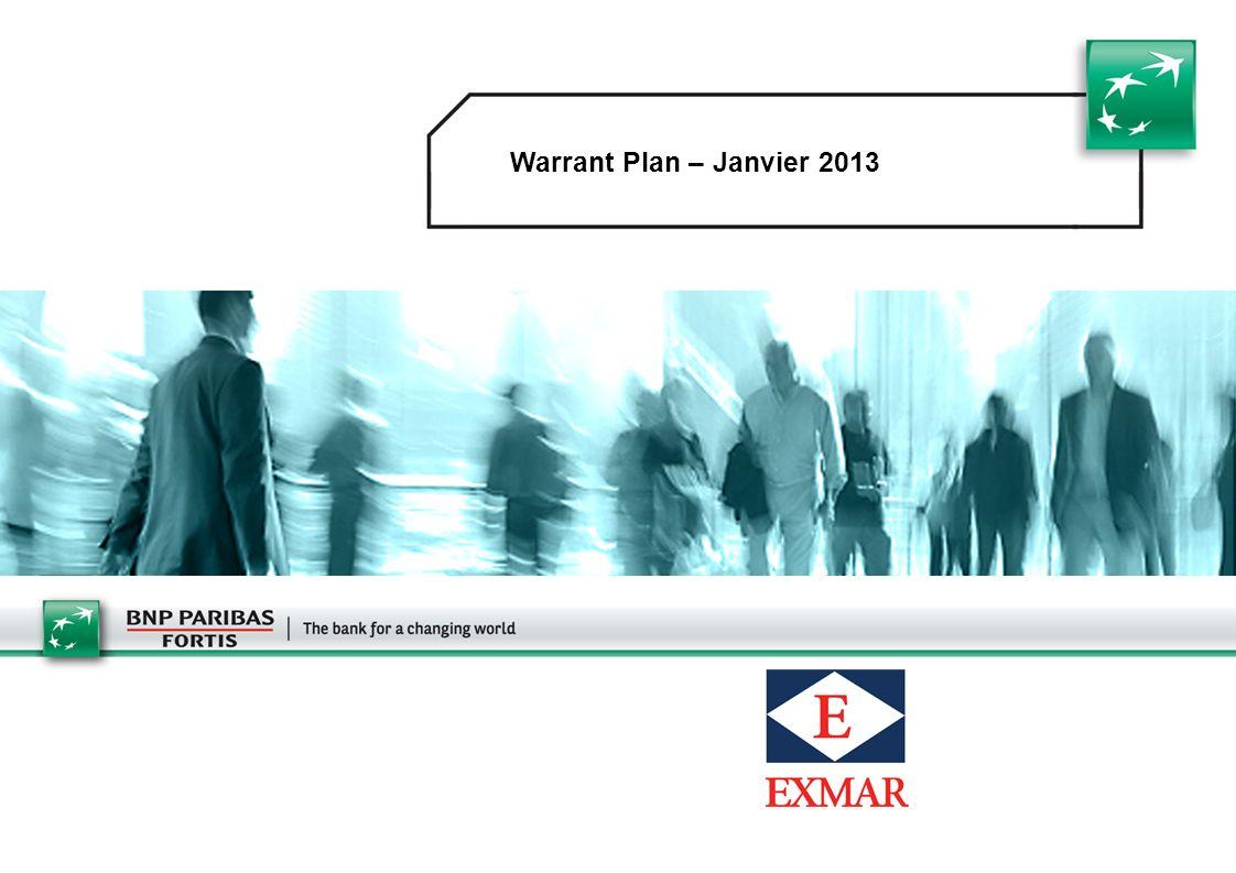 Warrant Plan – Janvier 2013