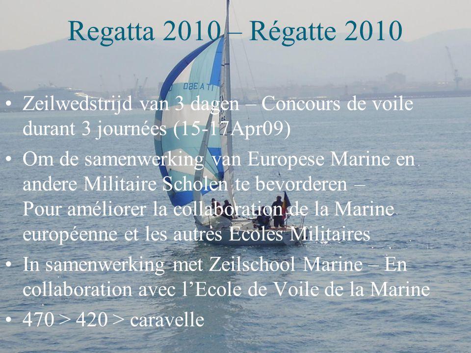 Regatta 2010 – Régatte 2010 Zeilwedstrijd van 3 dagen – Concours de voile durant 3 journées (15-17Apr09)