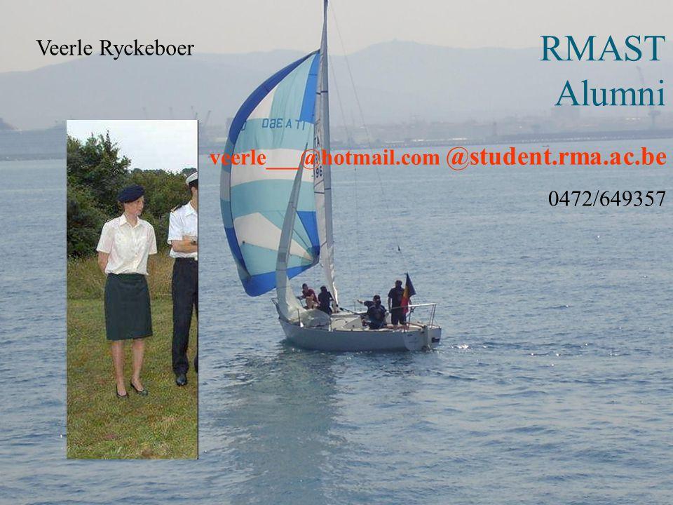RMAST Alumni veerle___@hotmail.com @student.rma.ac.be Veerle Ryckeboer