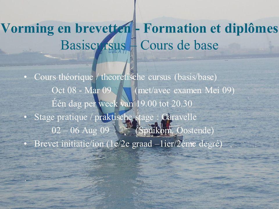 Vorming en brevetten - Formation et diplômes Basiscursus – Cours de base