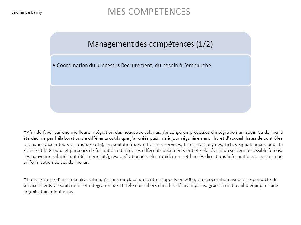 Management des compétences (1/2)