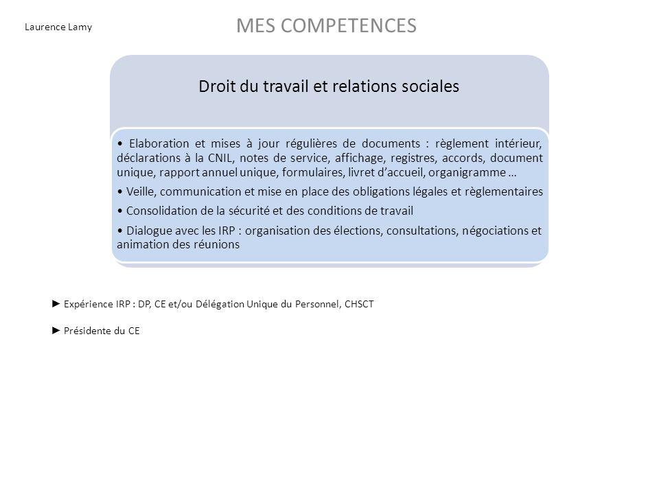 Droit du travail et relations sociales