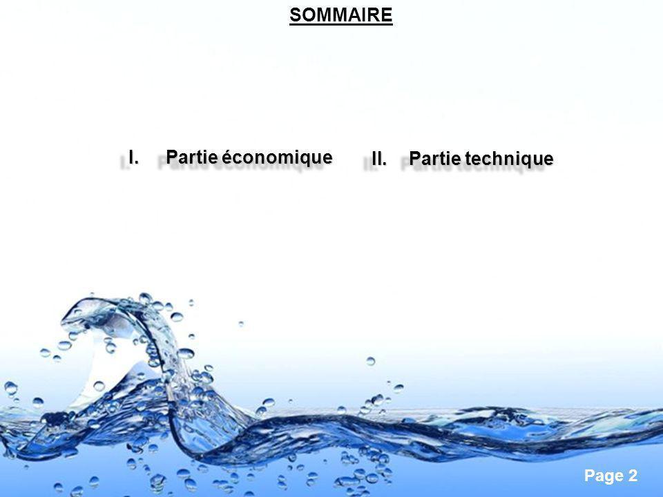 SOMMAIRE Partie économique Partie technique