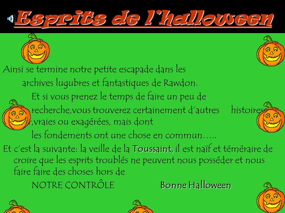 Esprits de l'halloween