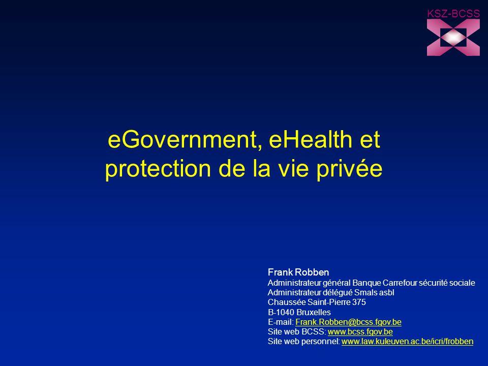 eGovernment, eHealth et protection de la vie privée