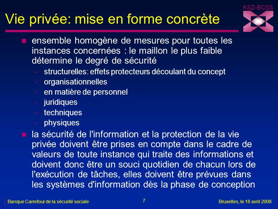 Vie privée: mise en forme concrète