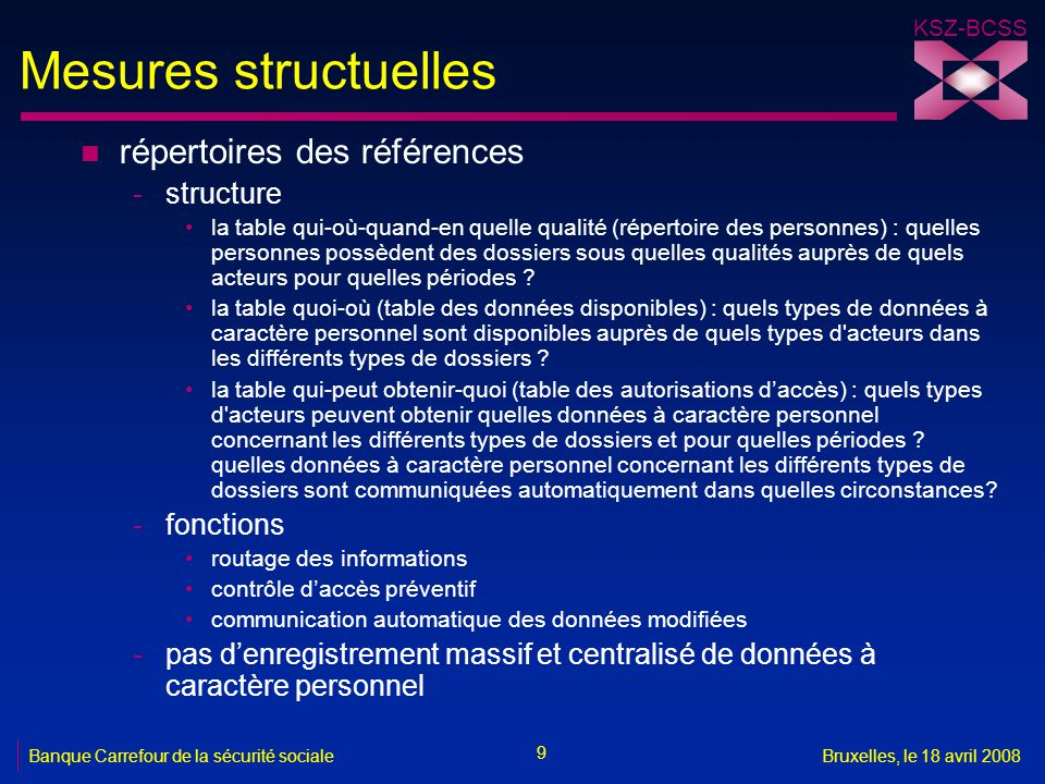 Mesures structuelles répertoires des références structure fonctions
