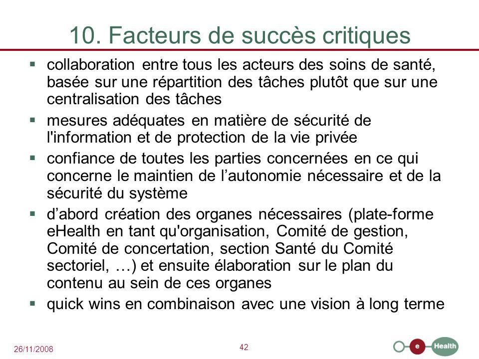 10. Facteurs de succès critiques