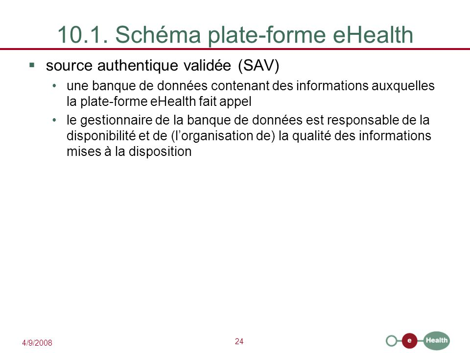 10.1. Schéma plate-forme eHealth