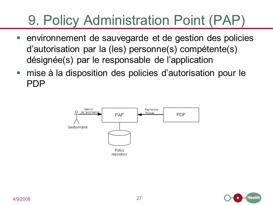 9. Policy Administration Point (PAP)