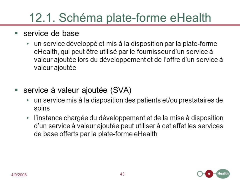 12.1. Schéma plate-forme eHealth