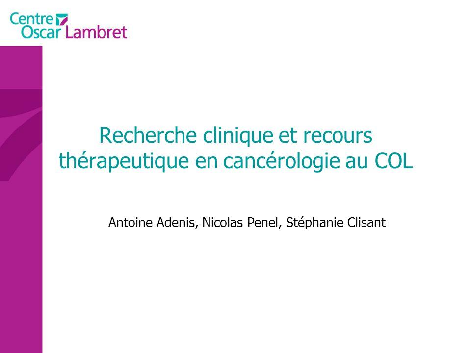 Recherche clinique et recours thérapeutique en cancérologie au COL