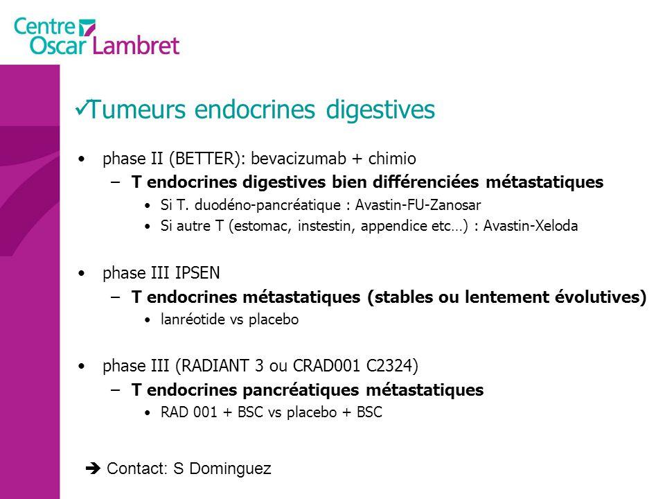 Tumeurs endocrines digestives