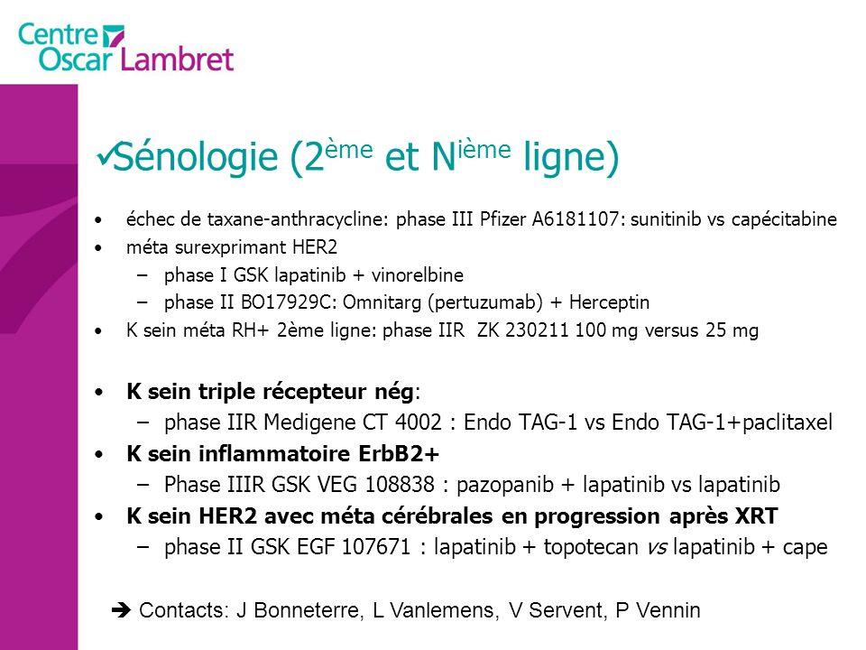 Sénologie (2ème et Nième ligne)