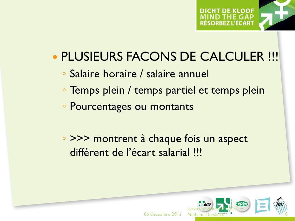PLUSIEURS FACONS DE CALCULER !!!