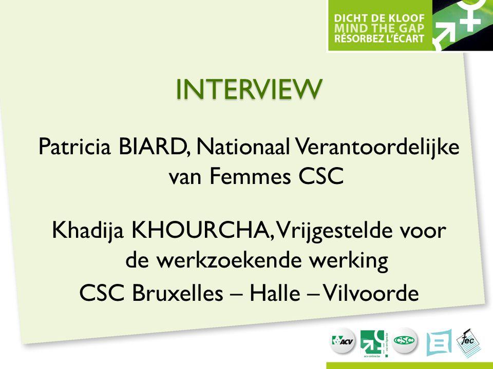 INTERVIEW Patricia BIARD, Nationaal Verantoordelijke van Femmes CSC