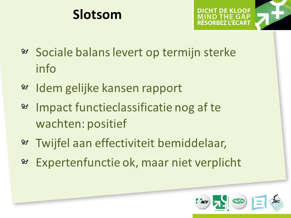 Slotsom Sociale balans levert op termijn sterke info