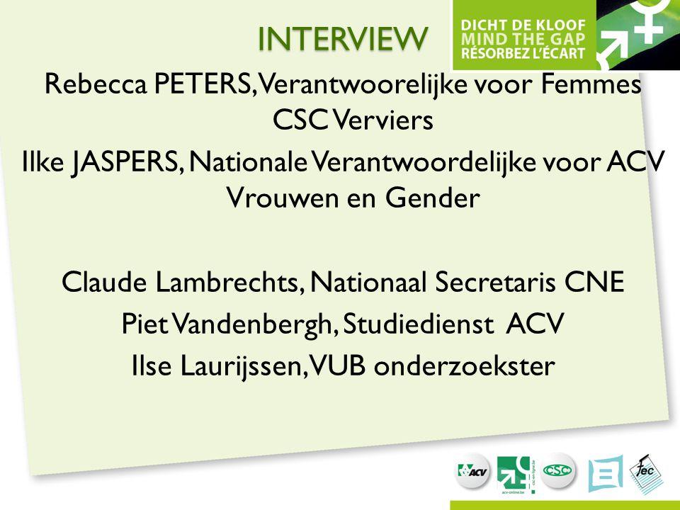 INTERVIEW Rebecca PETERS, Verantwoorelijke voor Femmes CSC Verviers