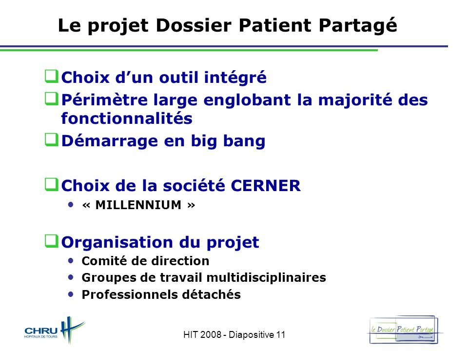 Le projet Dossier Patient Partagé