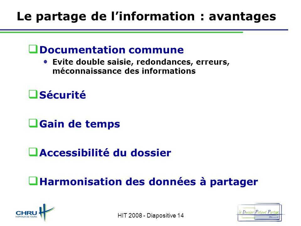 Le partage de l'information : avantages