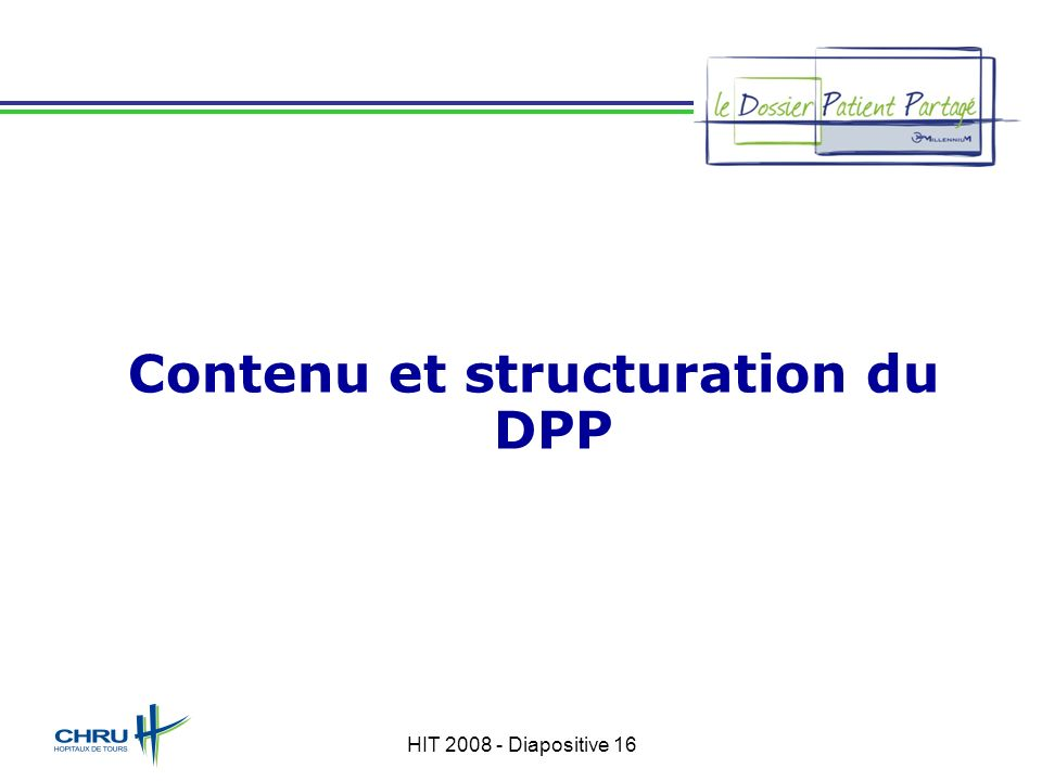Contenu et structuration du DPP