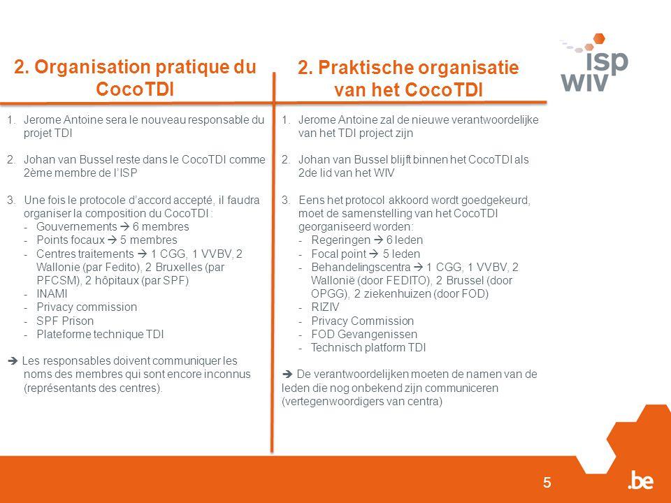 2. Organisation pratique du CocoTDI