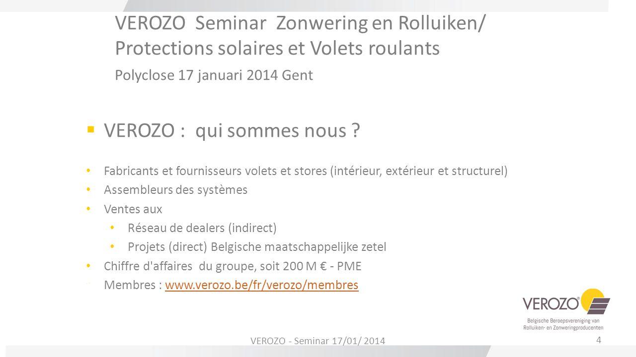 VEROZO Seminar Zonwering en Rolluiken/