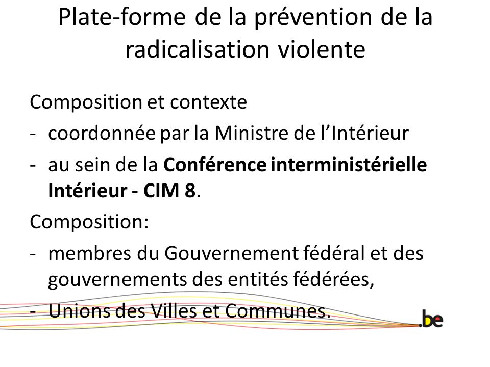 Plate-forme de la prévention de la radicalisation violente