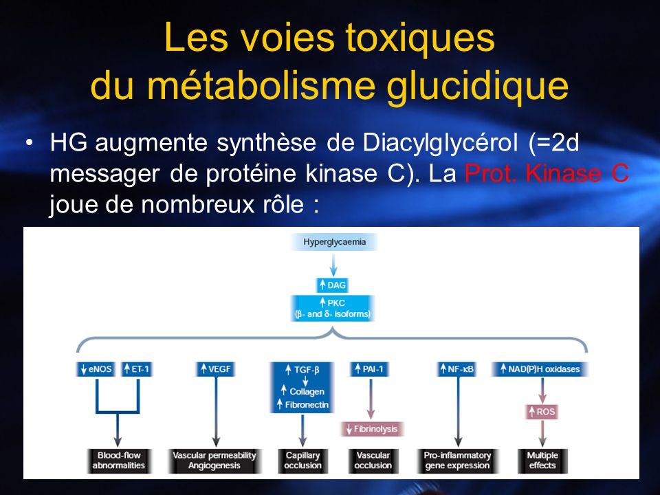 Les voies toxiques du métabolisme glucidique