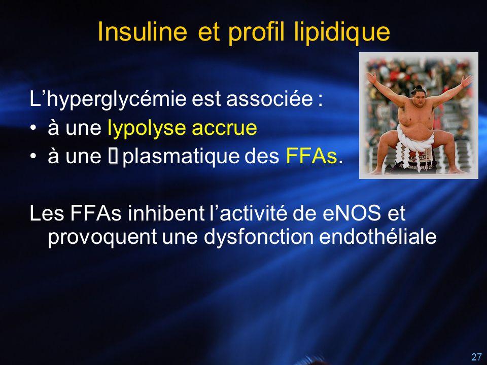 Insuline et profil lipidique