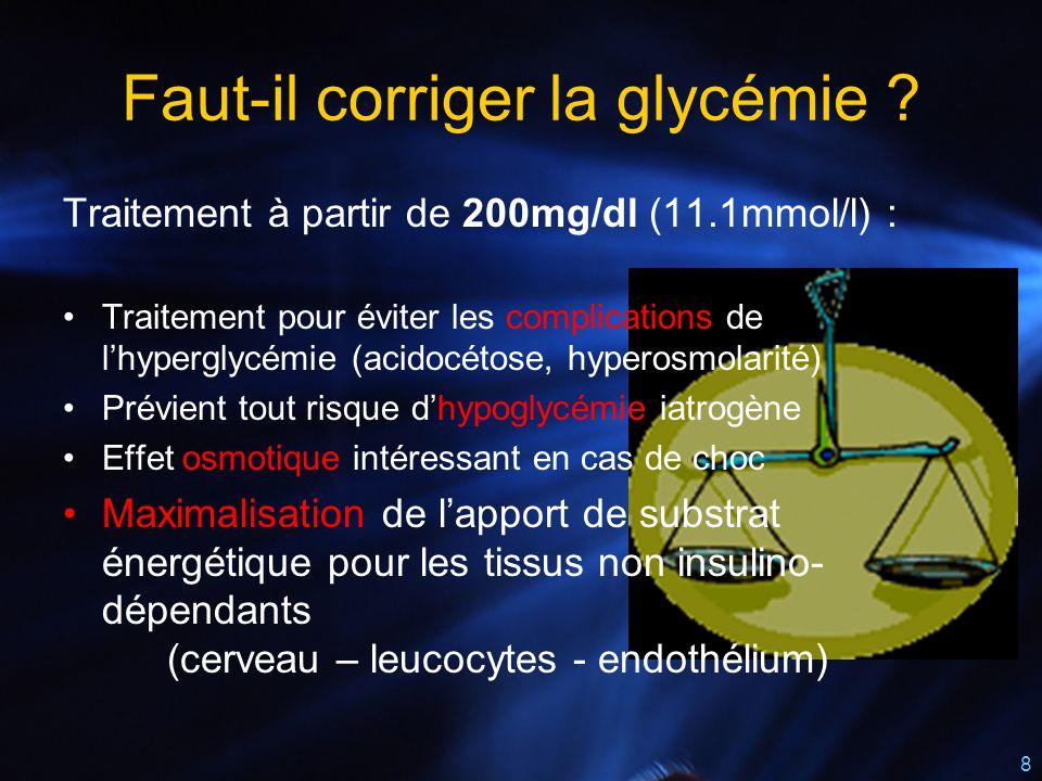 Faut-il corriger la glycémie