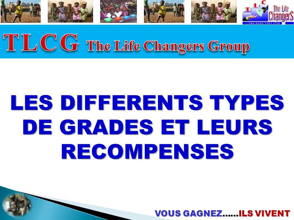 LES DIFFERENTS TYPES DE GRADES ET LEURS RECOMPENSES