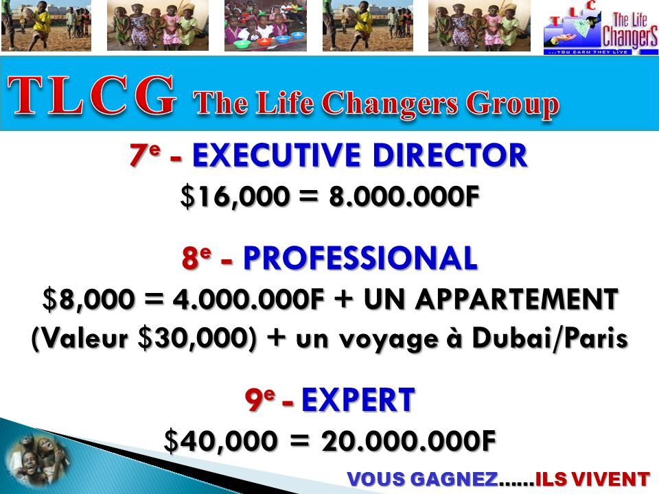 TLCG The Life Changers Group