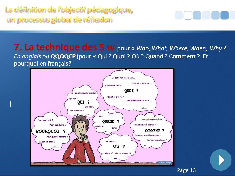 4/5/2017 6:14 AM La définition de l'objectif pédagogique, un processus global de réflexion.