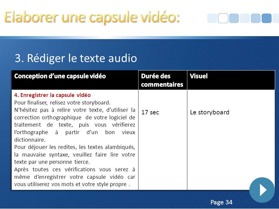Elaborer une capsule vidéo: