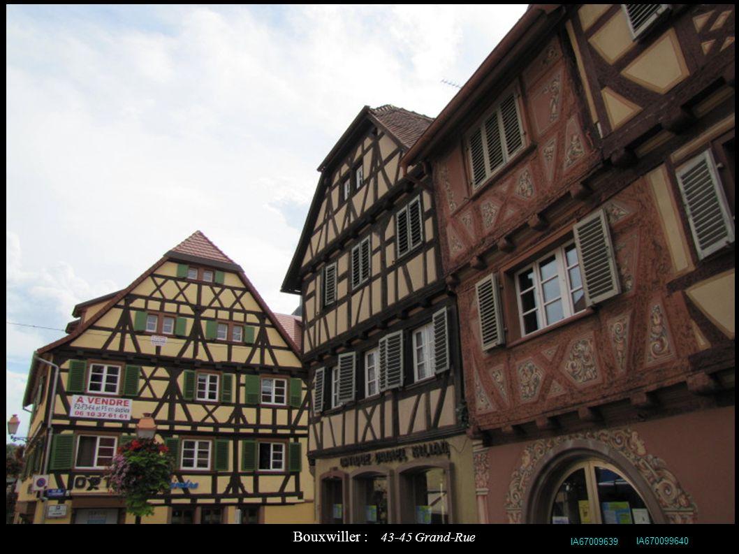 Bouxwiller : 43-45 Grand-Rue