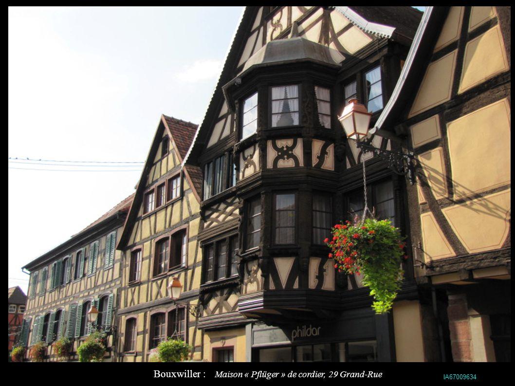 Bouxwiller : Maison « Pflüger » de cordier, 29 Grand-Rue