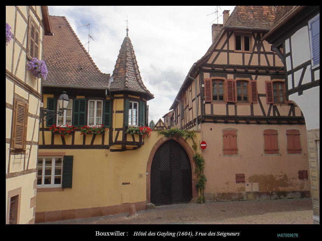 Bouxwiller : Hôtel des Gayling (1604), 3 rue des Seigneurs