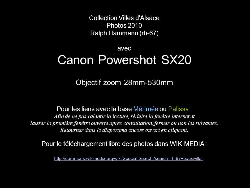 Canon Powershot SX20 Objectif zoom 28mm-530mm