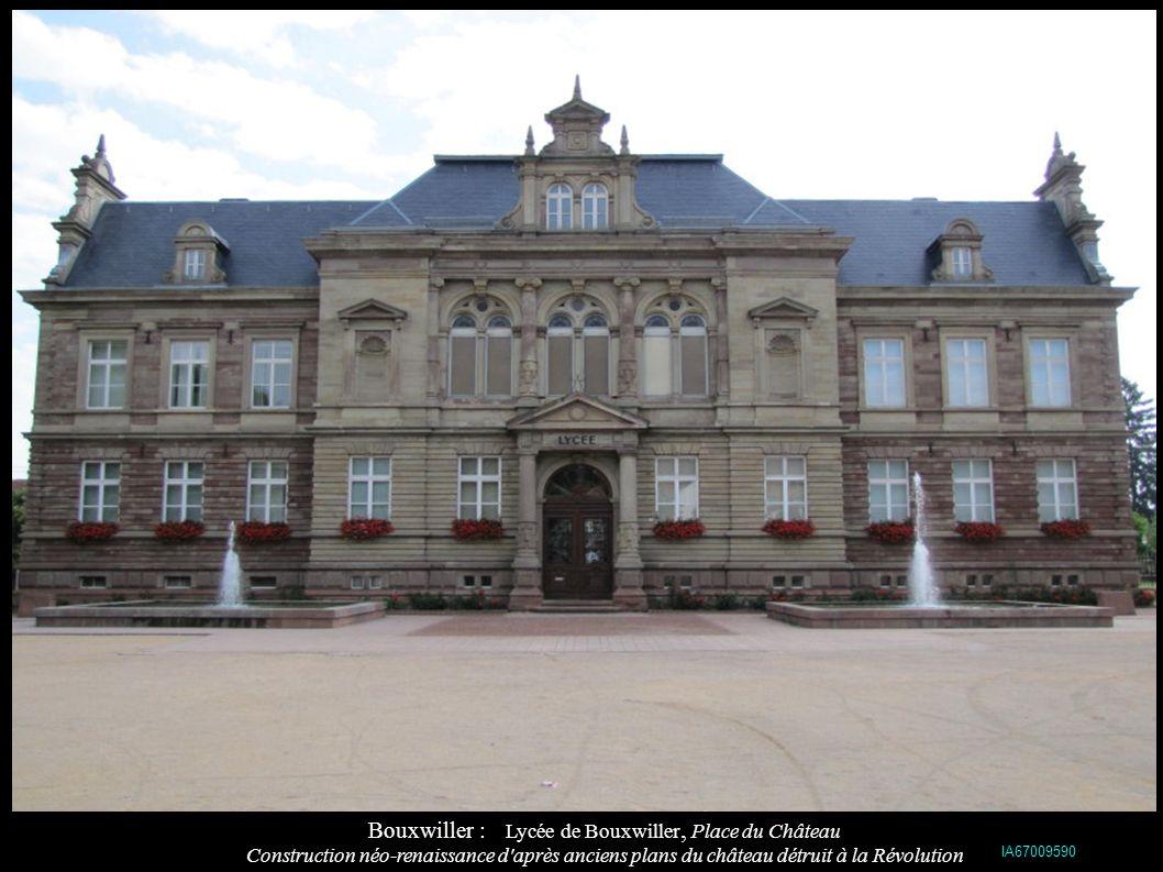 Bouxwiller : Lycée de Bouxwiller, Place du Château