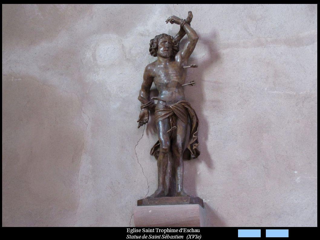 Eglise Saint Trophime d Eschau Statue de Saint Sébastien (XVIe)