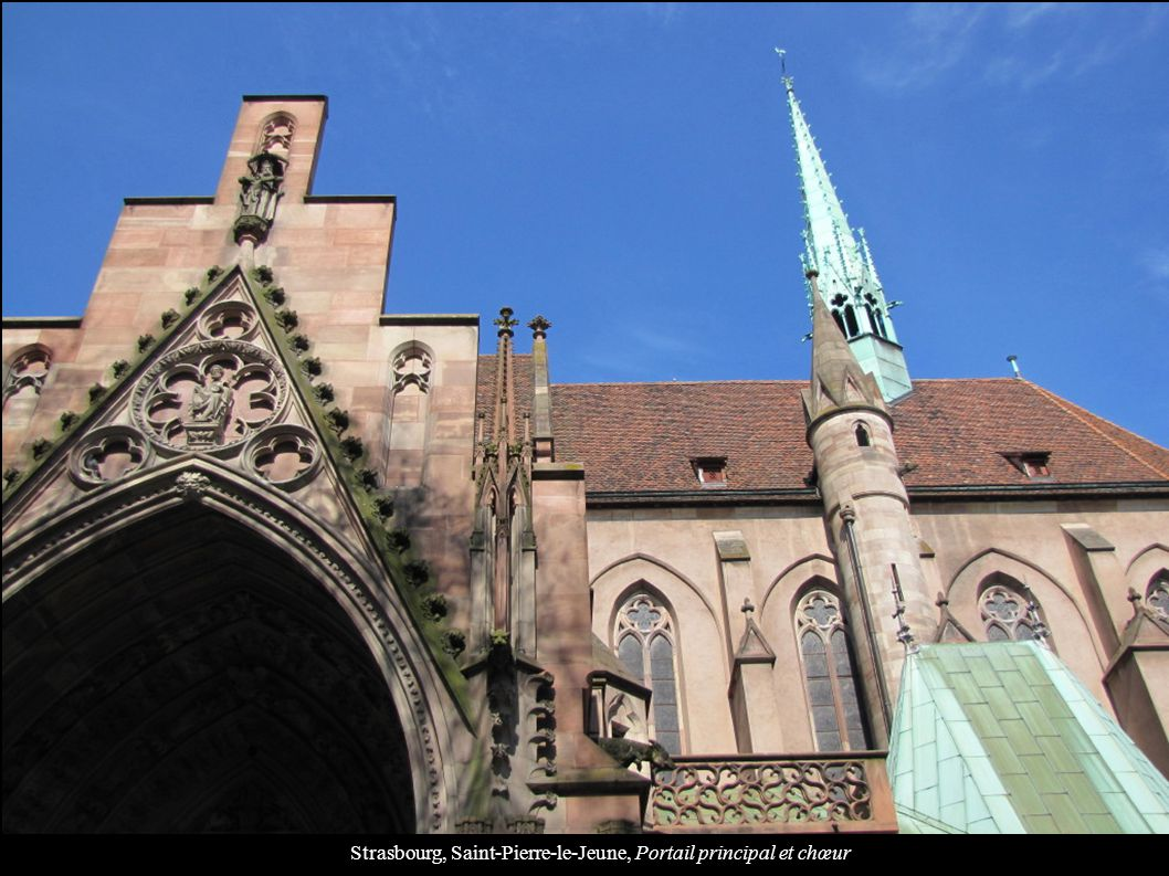 Strasbourg, Saint-Pierre-le-Jeune, Portail principal et chœur