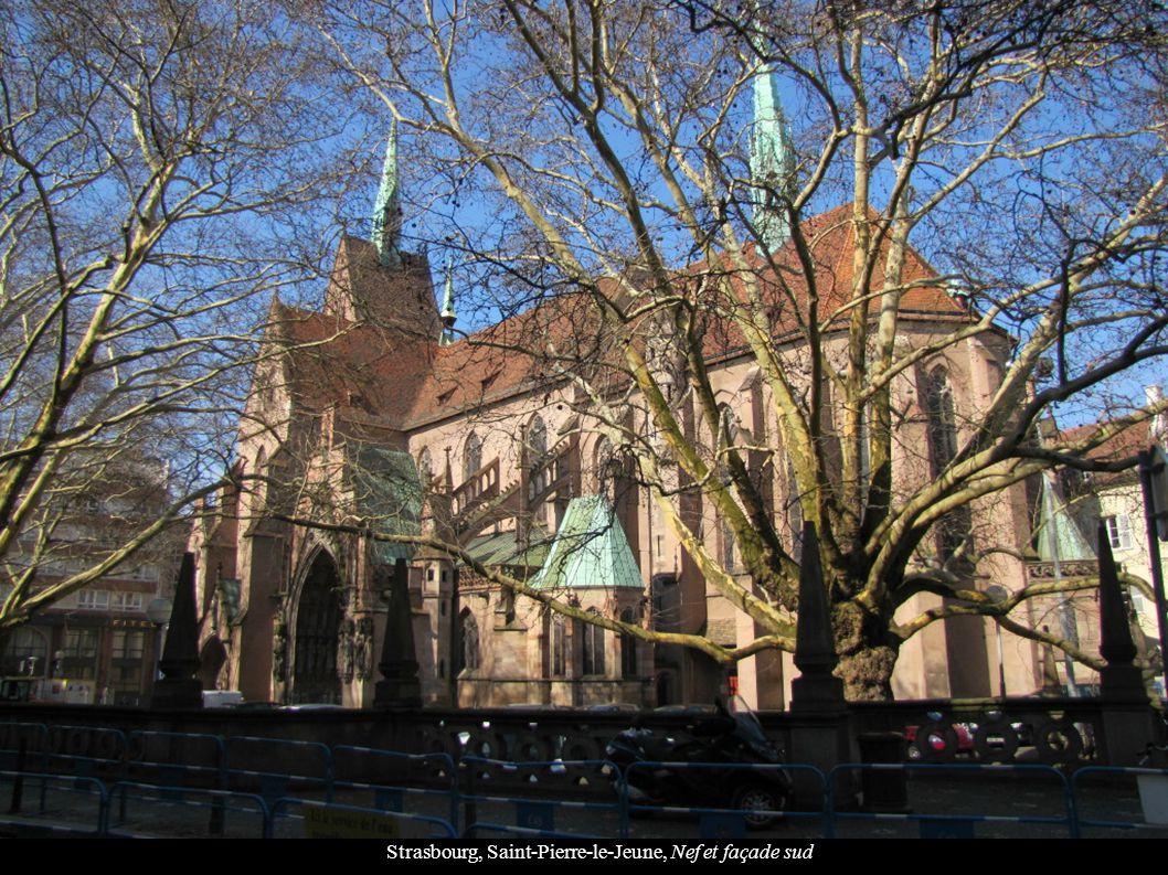 Strasbourg, Saint-Pierre-le-Jeune, Nef et façade sud