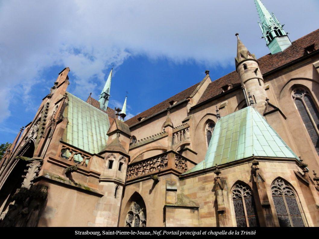 Strasbourg, Saint-Pierre-le-Jeune, Nef, Portail principal et chapelle de la Trinité