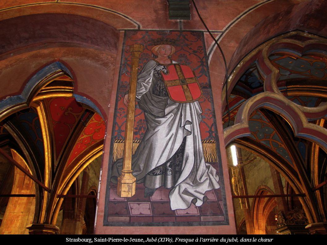 Strasbourg, Saint-Pierre-le-Jeune, Jubé (XIVe), Fresque à l arrière du jubé, dans le chœur