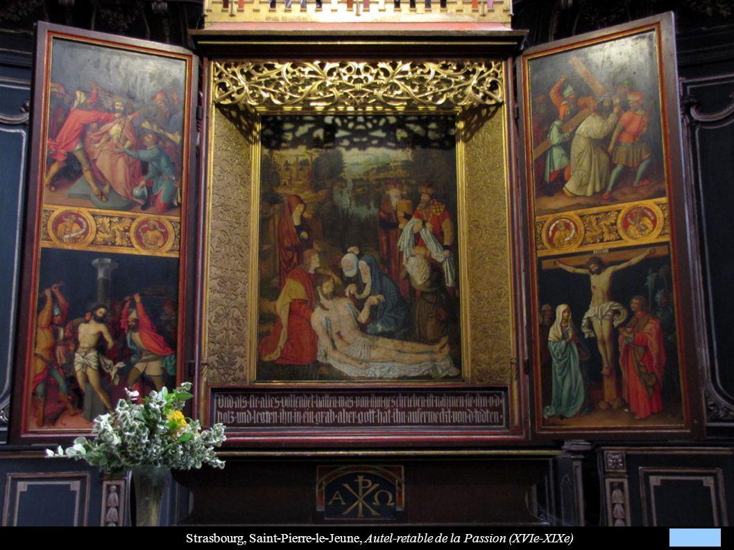 Strasbourg, Saint-Pierre-le-Jeune, Autel-retable de la Passion (XVIe-XIXe)