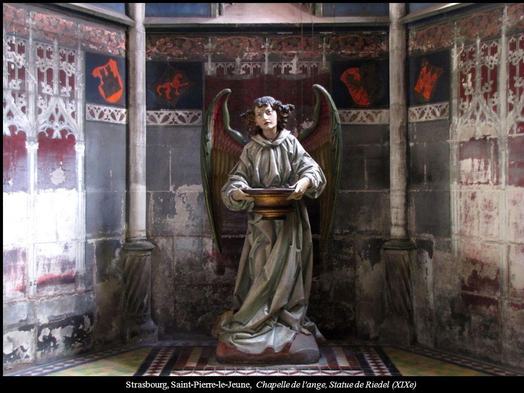 Strasbourg, Saint-Pierre-le-Jeune, Chapelle de l ange, Statue de Riedel (XIXe)