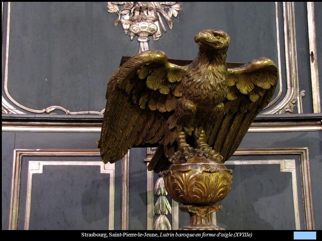 Strasbourg, Saint-Pierre-le-Jeune, Lutrin baroque en forme d aigle (XVIIIe)
