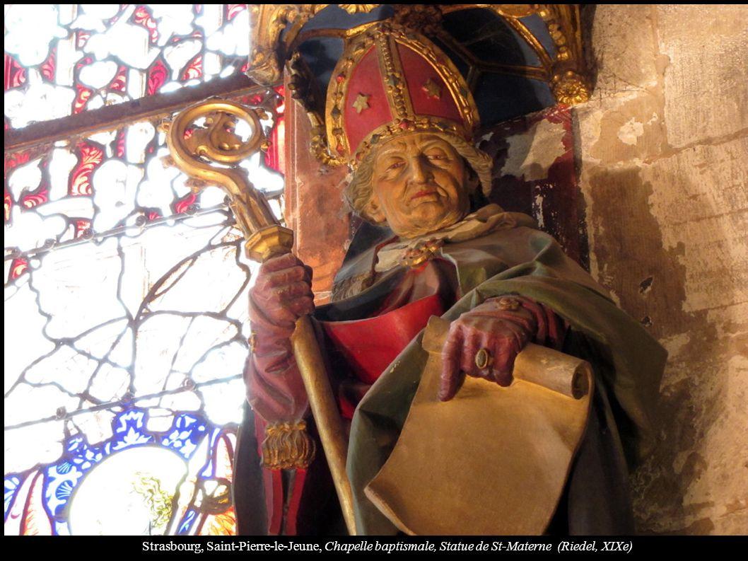 Strasbourg, Saint-Pierre-le-Jeune, Chapelle baptismale, Statue de St-Materne (Riedel, XIXe)