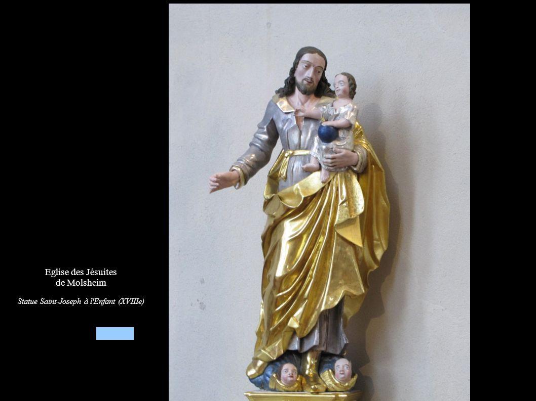Statue Saint-Joseph à l Enfant (XVIIIe)